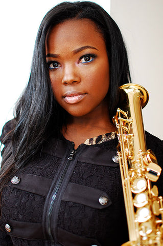 Camille Thurman is a saxophone player who uses Key Leaves care products to prevent sticking pads and sticky G# keys