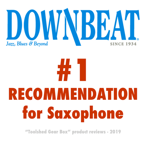 Downbeat jazz magazine recommends Key Leaves saxophone care products to fix sticking sax key pads including G sharp, C sharp and D sharp E flat.