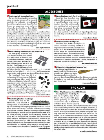 JAZZed magazine recommends using Spit Sponge™ pad dryers to clean saxophone, flute, oboe, clarinet and more.
