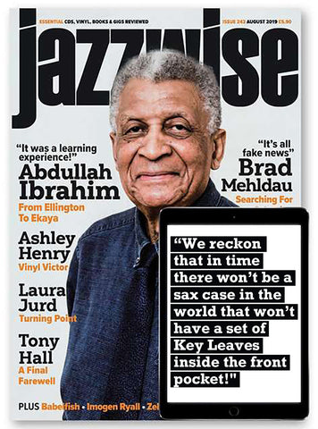 Jazzwise magazine recommends Key Leaves saxophone care products to fix sticking G# pads and prevent pad rot and extend and preserve sax pad life.