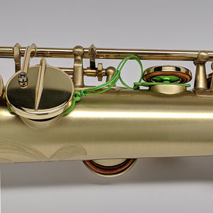 Key Leaves soprano saxophone care product fixes sticking G#, Eb and low C# pads so they don't rot and stick shut.