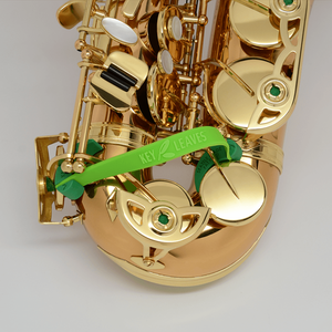 How to fix sticky saxophone key pads with Key Leaves so they don't stick and malfunction. Green props open key arms without touching pad leather and stop sticky G#, C# and Eb pads naturally