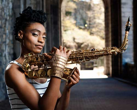 Lakecia Benjamin Uses Saxophone Key Leaves Key Props
