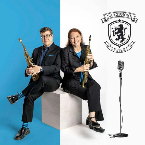 Wally Wallace and Susan Fancher of The Saxophone Academy Podcast