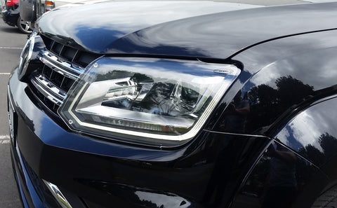 Headlight Protectors (clear) to suit Volkswagen Amarok V6 models 2017 onward with LED DRLs - Corsair Vehicle Solutions