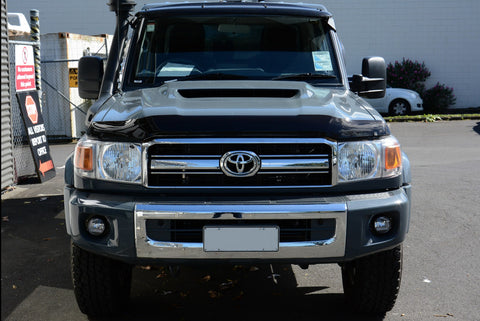 Shaped Tinted Bonnet Protector - Toyota Landcruiser 70 series (2017 update) - Corsair Vehicle Solutions