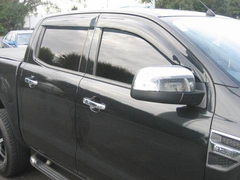 Premium Slimline Weather Shields (Tinted) - Ford Ranger PX/PXII/PXIII - Corsair Vehicle Solutions