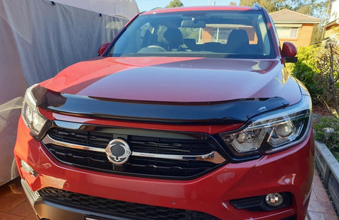 Ssangyong Musso Bonnet Protector 2018 onwards - TINTED - Corsair Vehicle Solutions