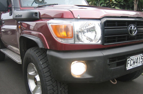 Shaped Clear Bonnet Protector - Toyota Landcruiser 70 series (2007-2016)