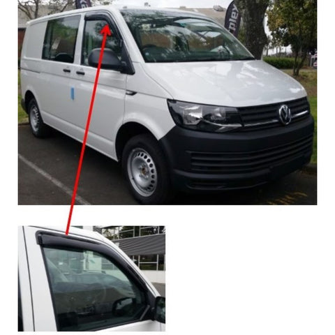 Volkswagen Transporter T6 2016 onwards Slimline Weather Shields - Corsair Vehicle Solutions