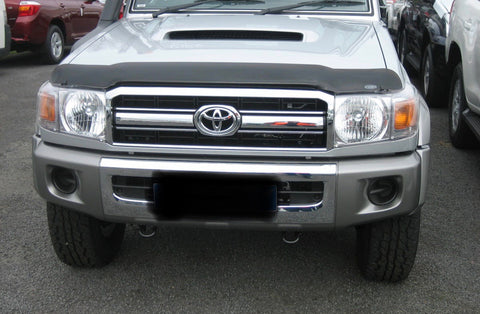 Shaped Tinted Bonnet Protector - Toyota Landcruiser 70 series (2007-2016) - Corsair Vehicle Solutions