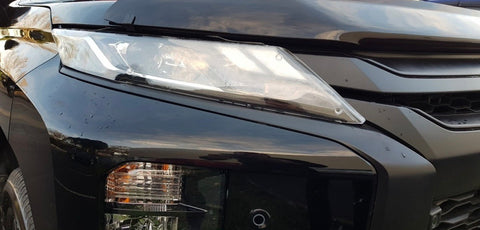 Mitsubishi Triton MR Headlight Protectors 2019 onwards - Corsair Vehicle Solutions