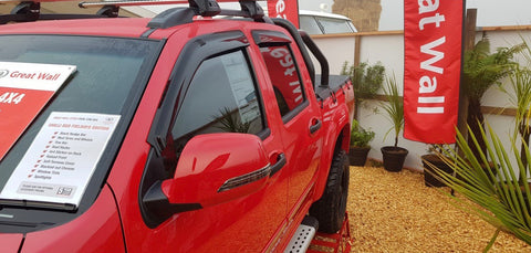Great Wall Steed Slimline Weather Shields 2017 onwards - Corsair Vehicle Solutions