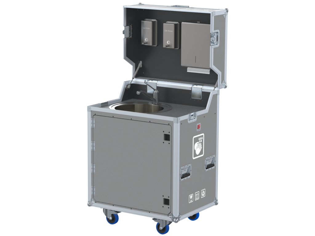 Flight cases for hand sanitizer