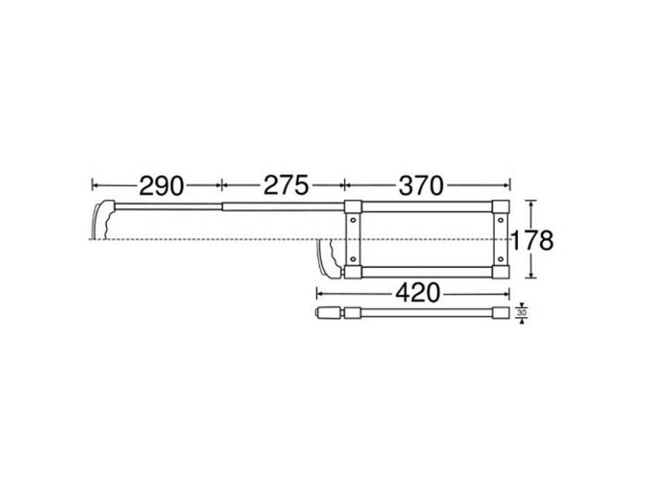 Adam Hall Hardware  Extendable Handle 2-stage