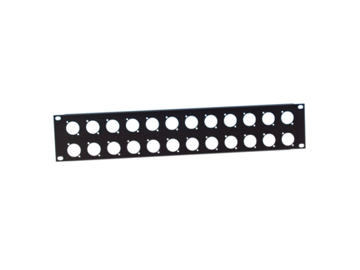 "Adam Hall Hardware  19"" Rack Panel 2U, 24x D-Series"