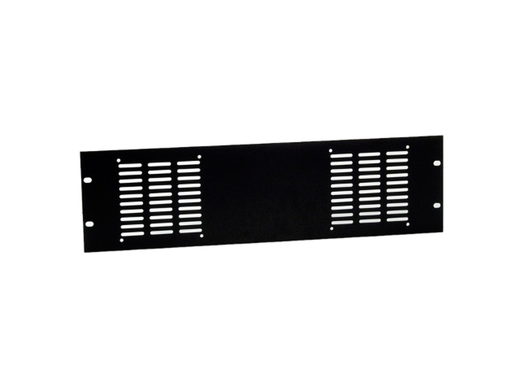 Adam Hall Hardware  Rack Panel punched For 2 fans