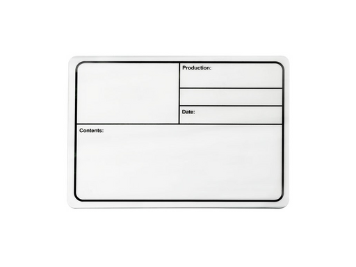 Adam Hall Hardware  Tour Label Plastic White magNetic 177x127mm