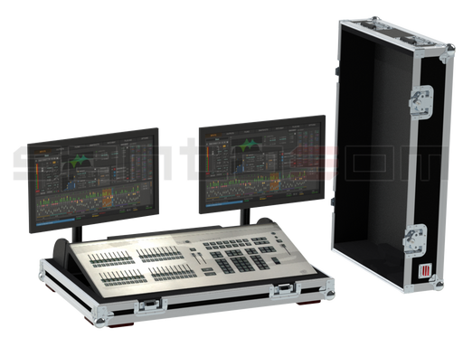 Santosom Video Controller  Flight case, ETC Element Console