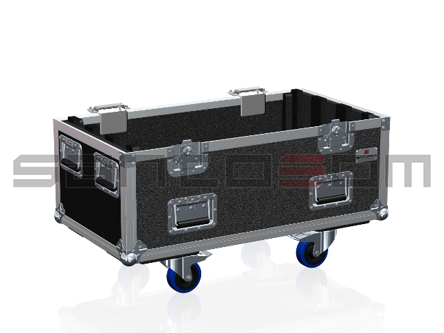 Santosom Blind  Flight case, 6x Led Eurolite 648