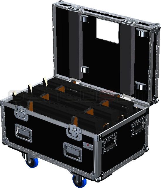 Santosom Blind PRO Flight Case PRO, 6x Showtec led Pixel Bar 8 COB
