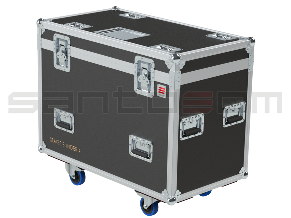 Santosom Blinder  Flight Case PRO, 6x Showtec Stage Blinder 4