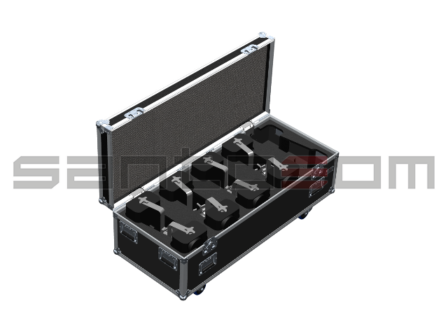 Santosom Blinder  Flight case, 10x Eurolite Flash 2000 L