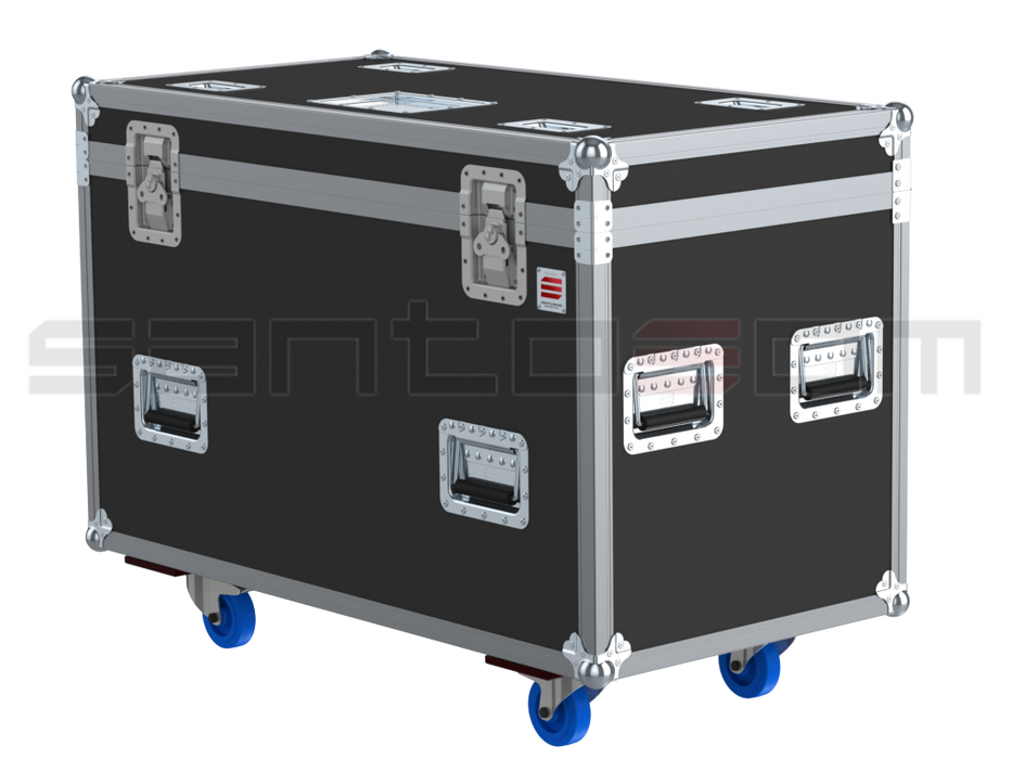 Santosom Blinder  Flight case PRO, 8x Eurolite Flash 4000L