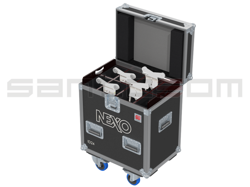 Santosom Cabinet  Flight Case PRO, 4x Nexo ID24 + access.
