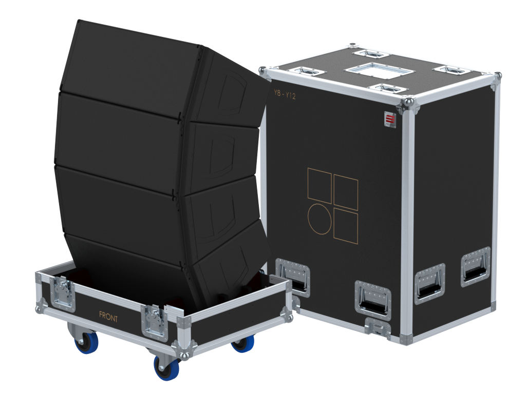 Santosom Cabinet  Flight case PRO, 4x D&B Y8/Y12