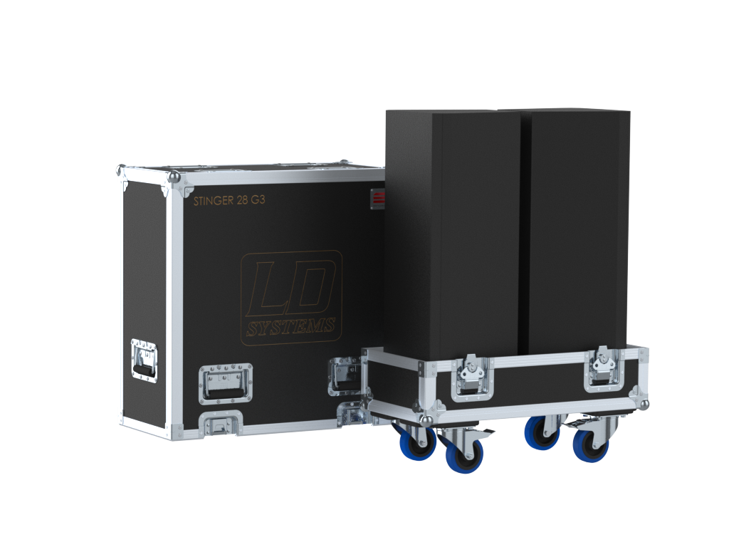 Santosom Cabinet  Flight Case, 2x LD Systems Stinger 28 G3