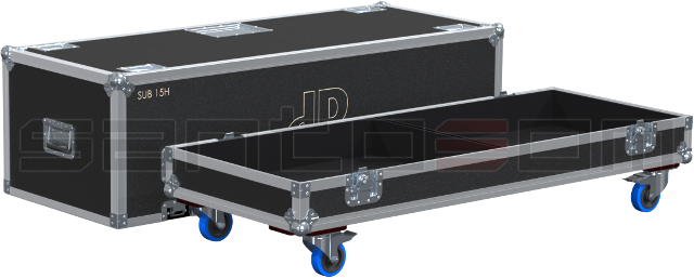 Santosom Cabinet  Flight Case, 2x DB Technologies SUB 15H