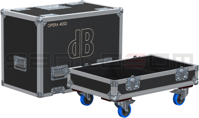 Santosom Cabinet  Flight Case, 2x DB Technologies Opera 405D