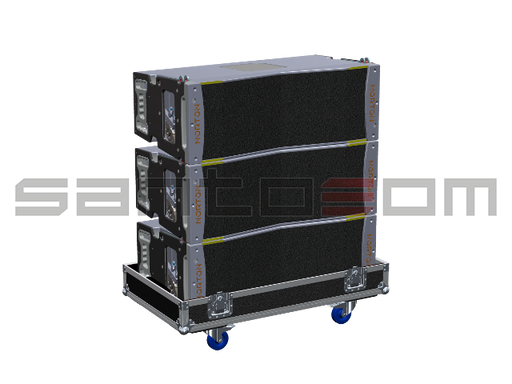 Santosom Cabinet  Flight Case PRO, 3x Norton LS6 V1