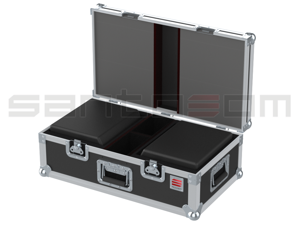 Santosom Cabinet  Flight case, 2x JBL LSR305 + Access.