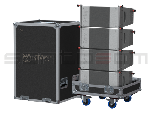 Santosom Cabinet  Flight Case, 4x Norton Line Array LS2
