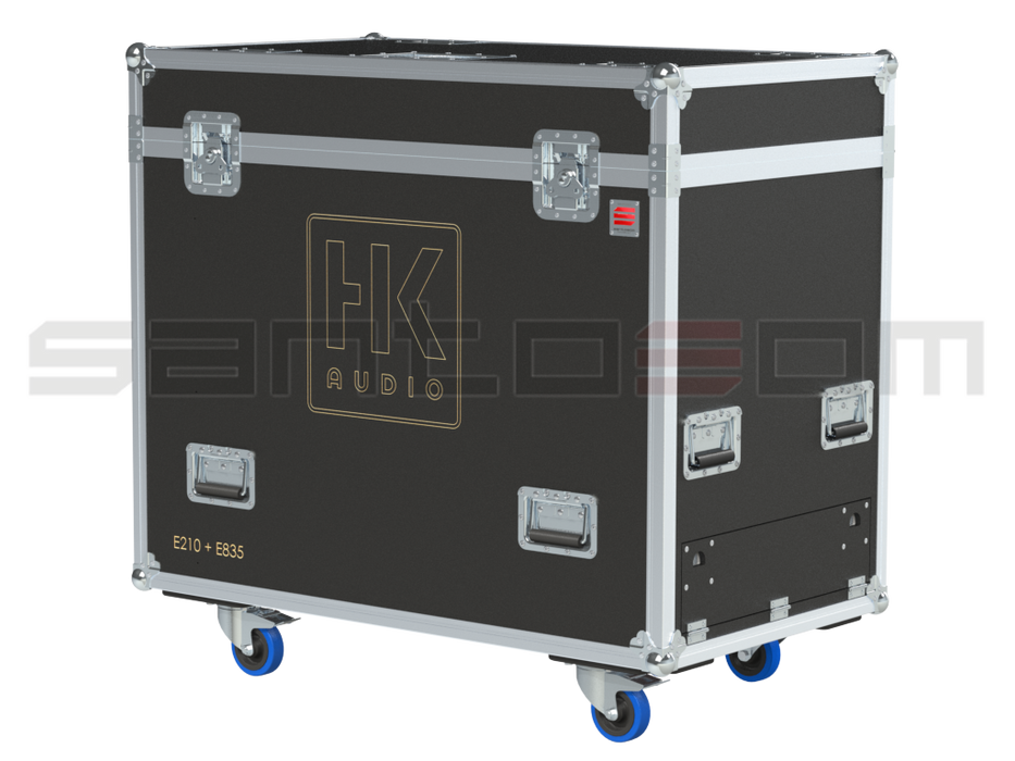 Santosom Cabinet  Flight Case, HK Elements 6x E835 + 2x E210 SUB