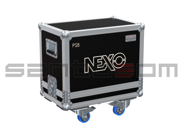 Santosom Cabinet  Flight Case, 2x Nexo PS8