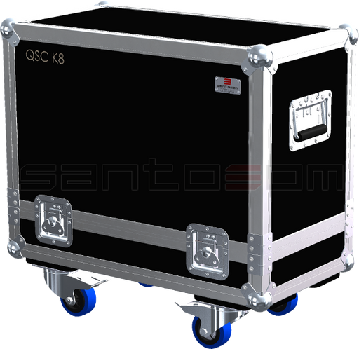 Santosom Cabinet  Flight case STD, 2x QSC K8