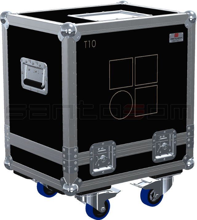 Santosom Cabinet  Flight Case, 2x D&B T10