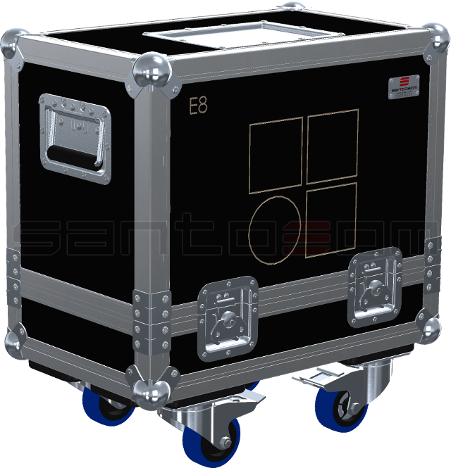 Santosom Cabinet  Flight Case, 2x D&B E8