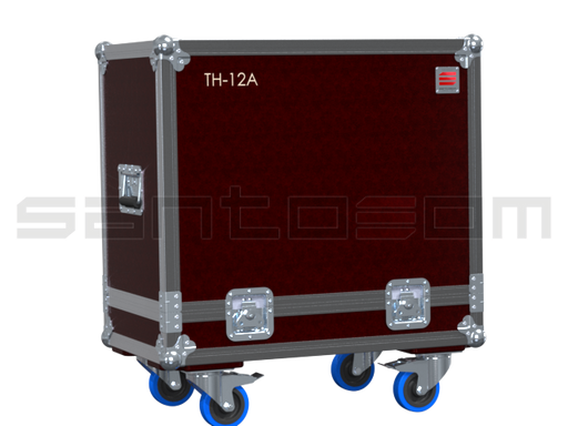 Santosom Cabinet  Flight case ECO, 2x Mackie TH-12A