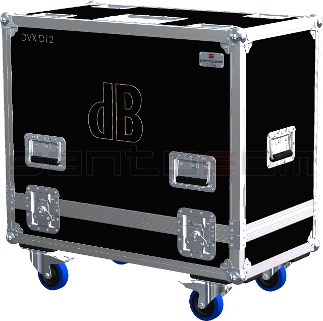 Santosom Cabinet  Flight Case Pro, 2x dB DVX D12