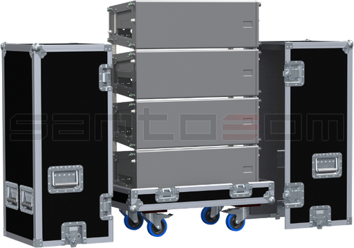 Santosom Cabinet  Flight Case PRO, 4x Meyersound M'elodie
