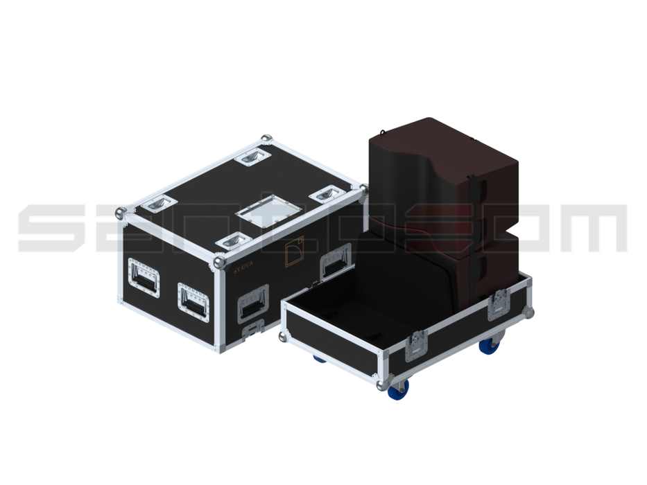 Santosom Cabinet  Flight case PRO, L-Acoustics 6x KIVA or 2 KILO + 2 KIVA