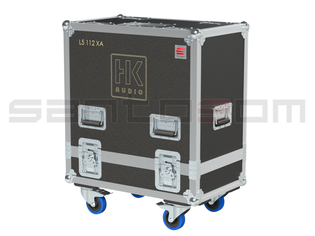 Santosom Cabinet  Flight Case Pro, 2x HK Audio L5 112XA