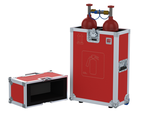 Santosom   Flight case, Emergency Fire (2 bottles CO2 Ø130x750mm)