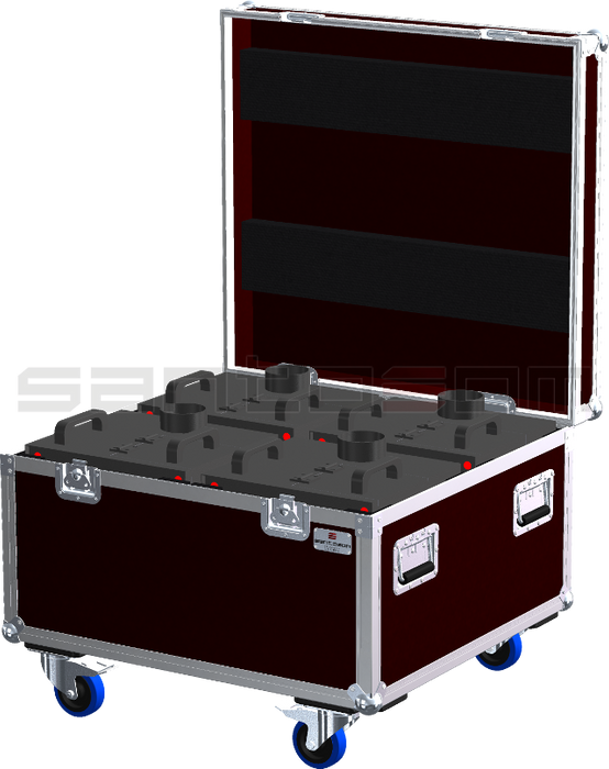 Santosom   Flight case, 4x Magic Fx Stage Flame + acces.