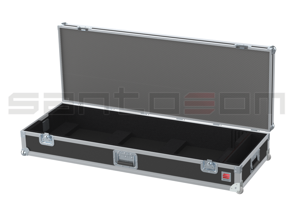 Santosom Custom Made  Flight Case, Keyboard 76-Keys (120x42x14 UID)