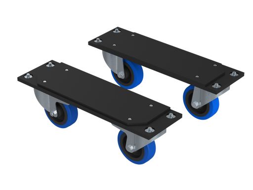 Santosom   Kit 2 wheel Support + 4 Wheels 100mm (2 With Brake)